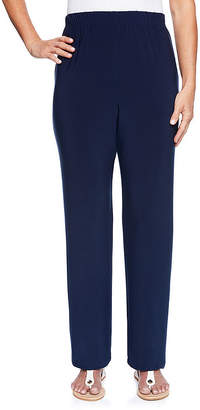 Alfred Dunner Royal Street Loose Fit Knit Pull-On Pants-Misses Short