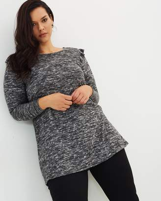 Evans Frill Tunic Top