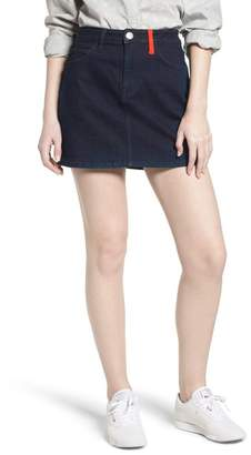 Current\u002FElliott The Five-Pocket Denim Miniskirt