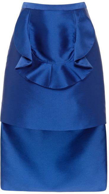 Harbison Ruffled Apron Skirt