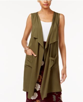 NY Collection Draped Vest