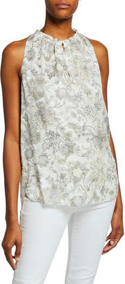 Elie Tahari Bessie Printed Sleeveless Blouse