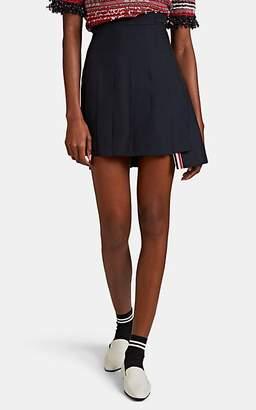 Thom Browne Women's Wool-Blend Pleated Miniskirt - Navy