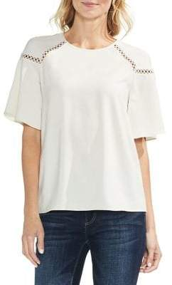 Vince Camuto Ruffled Ladder-Trim Blouse