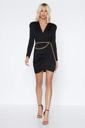 Nasty Gal None of Your Business Ruched Dress