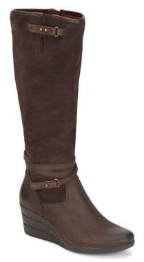 Lesley Tall Wedge Boots $200 thestylecure.com