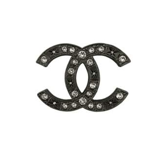 Chanel CC Silver Metal Pins & brooches