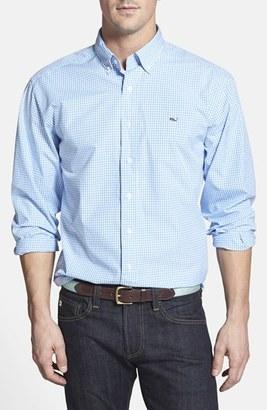 Men's Vineyard Vines 'Whale' Classic Fit Check Poplin Sport Shirt $98.50 thestylecure.com