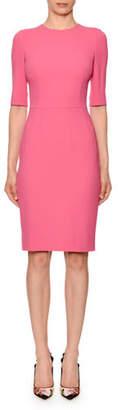 Dolce & Gabbana Half-Sleeve Jewel-Neck Sheath Dress