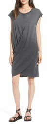 Current/Elliott Draped T-Shirt Dress
