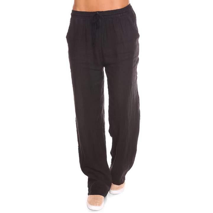 Black Jill Linen Trousers