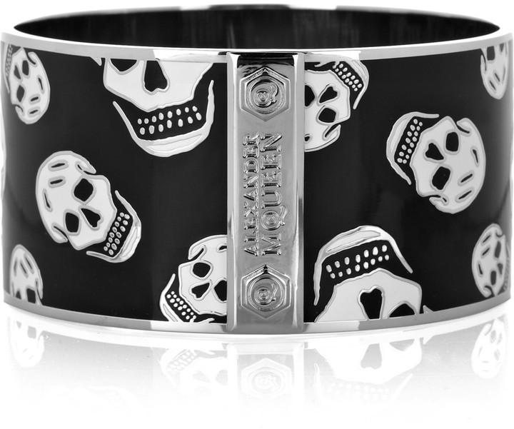 Alexander McQueen Large skull enameled bracelet