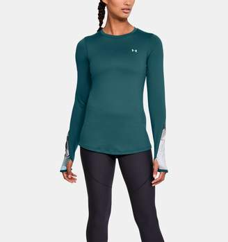 Under Armour Women's ColdGear Armour Printed Fitted Crew