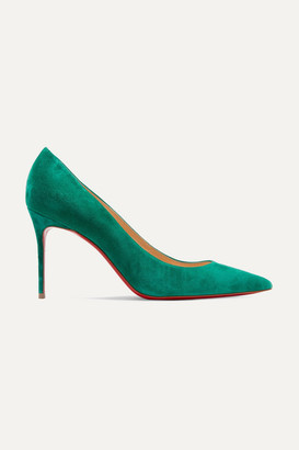 Christian Louboutin Décolleté 554 85 Suede Pumps - Green