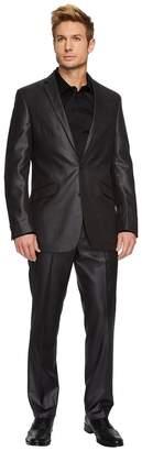 Kenneth Cole Reaction Shiny Basketweave Suit Men's Suits Sets