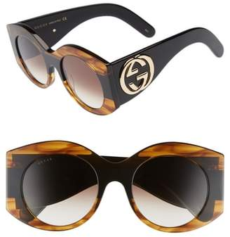 Gucci 51mm Transparent Stripe Sunglasses
