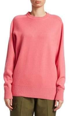 Victoria Beckham Oversize Cashmere Crewneck Sweater