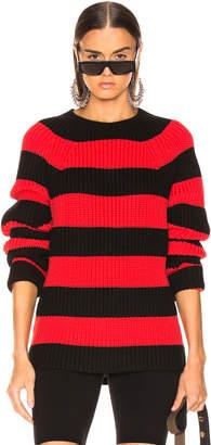 Alexander Wang Rugby Stripe Sweater in Black & Red | FWRD