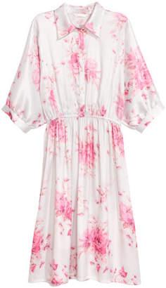 H&M Satin Shirt Dress - Pink