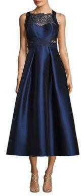 Theia Lace Inset Tea Dress $795 thestylecure.com