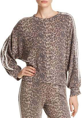 Vintage Havana Track Stripe Leopard Sweatshirt