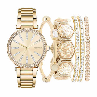 ROCAWEAR Rocawear Womens Gold Tone 6-pc. Watch Boxed Set-Rlst1955g329-005 $45 thestylecure.com