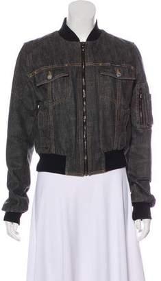 Dolce & Gabbana Denim Bomber Jacket