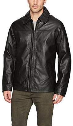 Excelled Men's Lambskin Leather Shirt Collar Jacket