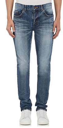 Saint Laurent Men's University Patch Skinny Jeans