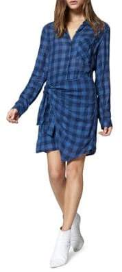 Sanctuary Ani Knotted Check Shirtdress