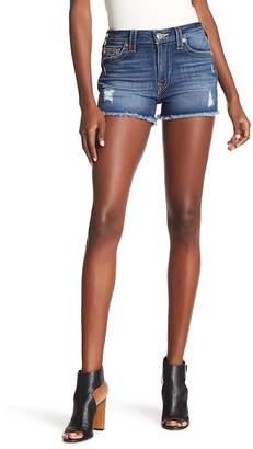 True Religion High Rise Cutoff Denim Shorts