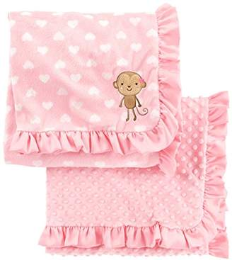 Carter's Simple Joys by Baby Girls' 2-Pack Plush Blankets