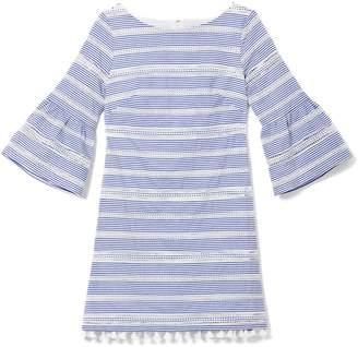 Vince Camuto Striped Tassel-trim Dress