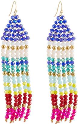 Panacea Multicolor Crystal Fringe Earrings