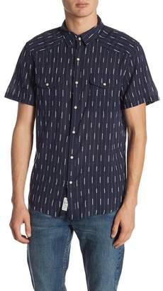 Lucky Brand Short Sleeve Print Western Shirt