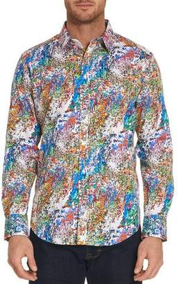 Robert Graham Splash Graphic-Print Sport Shirt