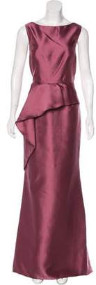 Carmen Marc Valvo Sleeveless Evening Dress