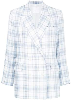 CITYSHOP checked double breasted blazer