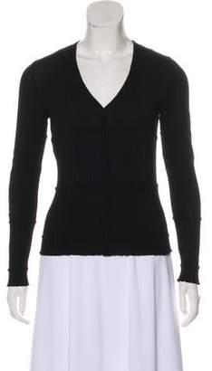 Alberta Ferretti Virgin Wool Button-Up Cardigan