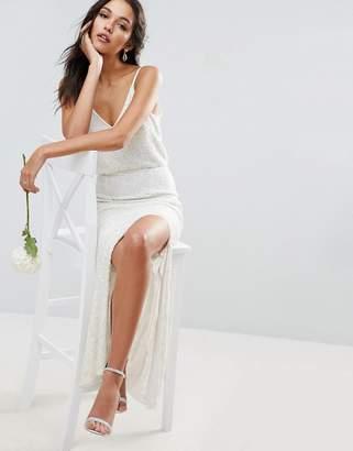 Asos DESIGN BRIDAL Cami Embellished Maxi Dress