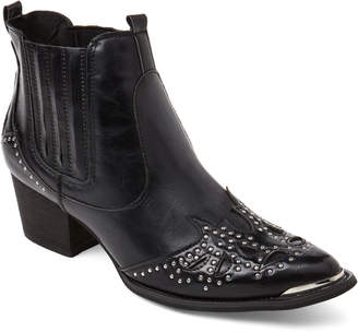 Wanted Black Lonestar Western Ankle Boots