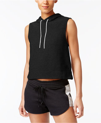 adidas Sleeveless French Terry Hoodie $40 thestylecure.com