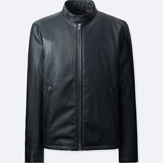Uniqlo Men's Faux Leather Single Breasted Riders Jacket