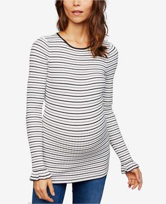A Pea in the Pod Maternity Ruffled-Sleeve Sweater
