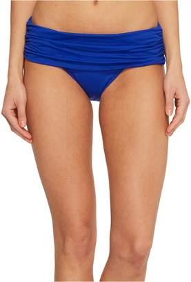 Lauren Ralph Lauren Beach Club Solids Wide Shirred Banded Hipster Bottom Women's Swimwear