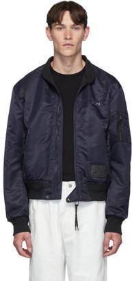Lanvin Navy Twill Bomber Jacket