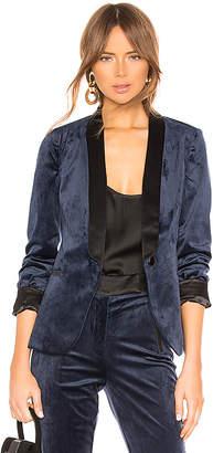 Karina Grimaldi Bruno Velvet Tuxedo Jacket