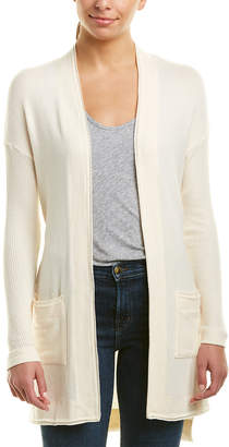 Three Dots Brushed Wrap Cardigan
