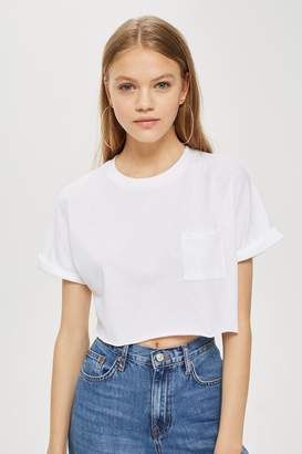 Topshop TALL Sewn Off Cropped T-Shirt