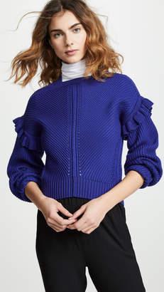 Jason Wu Grey Shoulder Detail Wool Sweater